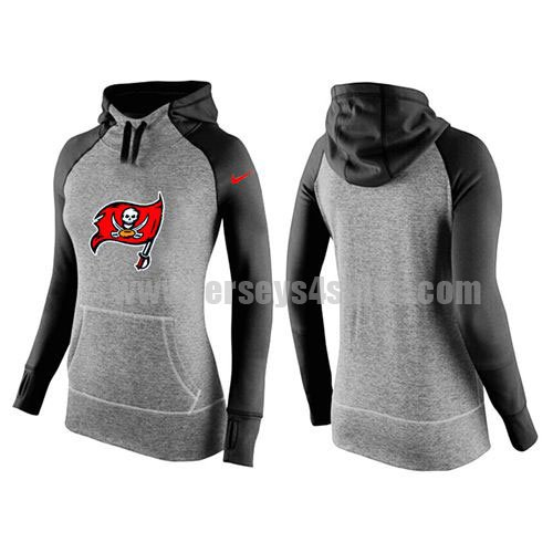 Women's Tampa Bay Buccaneers Grey/Black All Time Performance NFL Hoodie