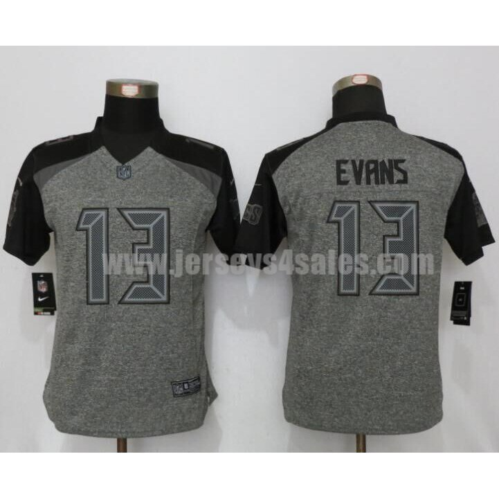 Women's Tampa Bay Buccaneers #13 Mike Evans Grey Stitched Nike NFL Gridiron Gray Limited Jersey