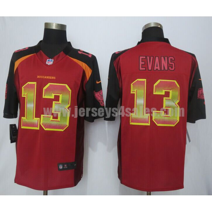 Men's Tampa Bay Buccaneers #13 Mike Evans Red Team Color Stitched Strobe Nike NFL Limited Jersey