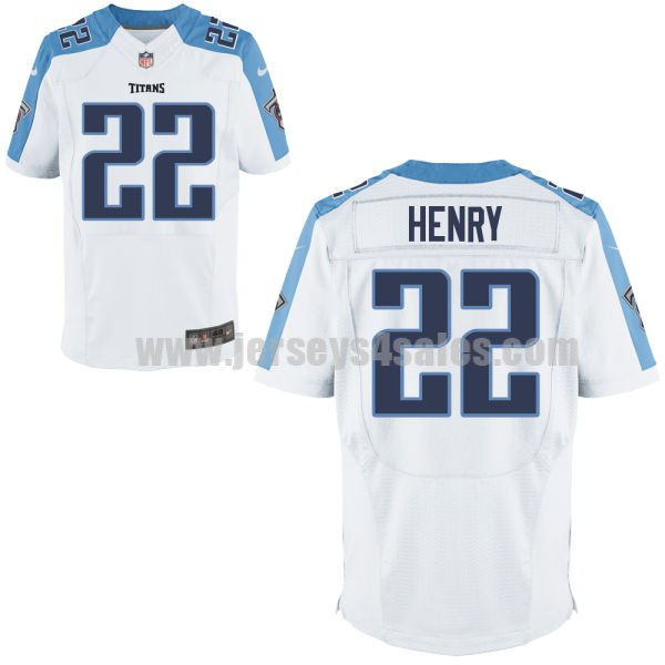 Men's Tennessee Titans #22 Derrick Henry White Stitched Nike NFL Road Elite Jersey