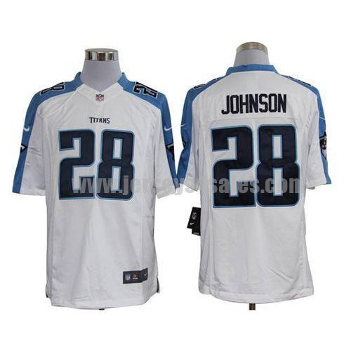 Nike Titans #28 Chris Johnson White Men's Stitched NFL Limited Jersey