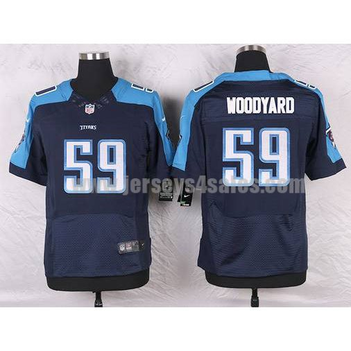 Men's Tennessee Titans #59 Wesley Woodyard Navy Blue Stitched Nike NFL Alternate Elite Jersey
