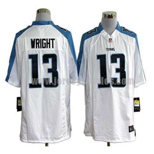 Nike Titans #13 Kendall Wright White Men's Stitched NFL Game Jersey