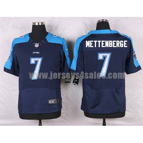 Men's Tennessee Titans #7 Zach Mettenberger Navy Blue Stitched Nike NFL Alternate Elite Jersey