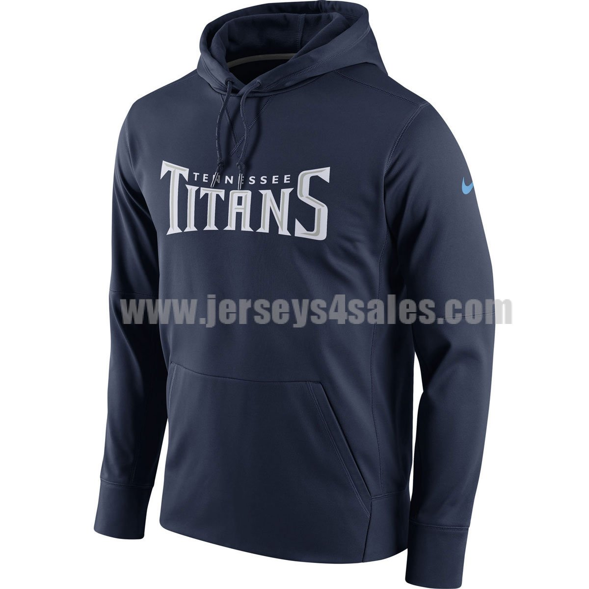 Men's Tennessee Titans Navy Blue Nike Circuit Wordmark Essential Performance NFL Pullover Hoodie