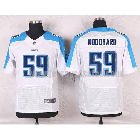 Men's Tennessee Titans #59 Wesley Woodyard White Stitched Nike NFL Road Elite Jersey