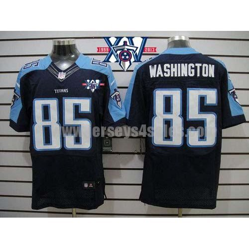 Nike Titans #85 Nate Washington Navy Blue Alternate With 15th Season Patch Men's Stitched NFL Elite Jersey