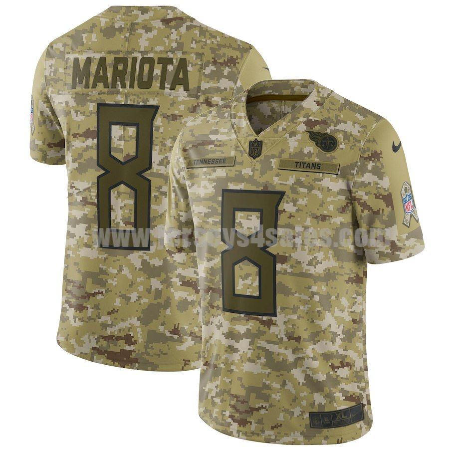 Men's Tennessee Titans #8 Marcus Mariota Nike Camo Salute To Service Limited Jersey