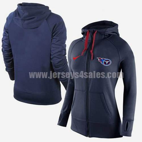 Women's Tennessee Titans Navy Blue Nike Stadium Rally Full Zip NFL Hoodie