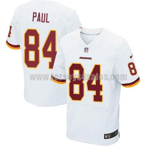 Nike Redskins #84 Niles Paul White Men's Stitched NFL Elite Jersey
