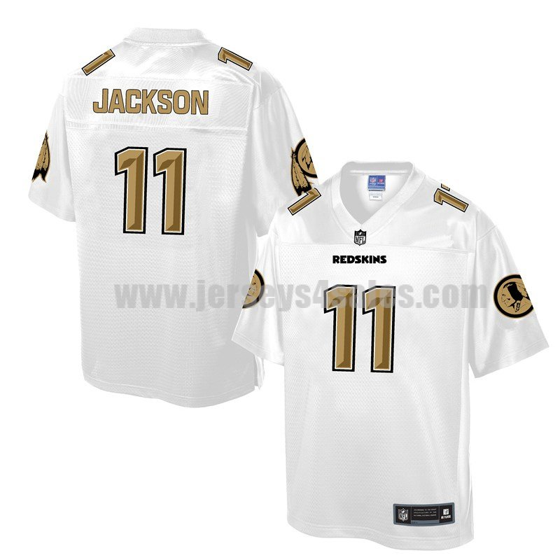 Men's Washington Redskins #11 DeSean Jackson White Pro Line NFL Fashion Game Jersey