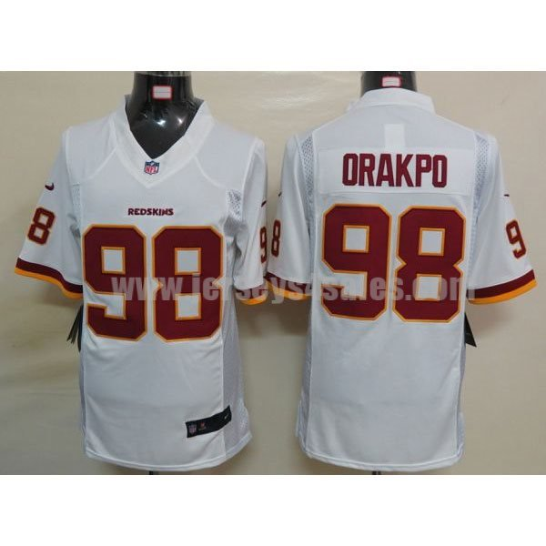 Nike Redskins #98 Brian Orakpo White Men's Stitched NFL Limited Jersey