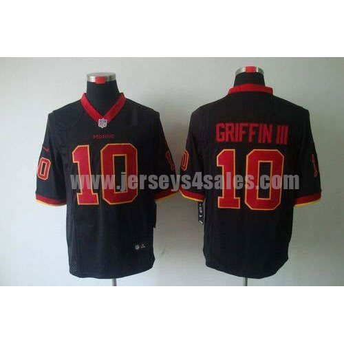 Nike Redskins #10 Robert Griffin III Black Men's Stitched NFL Game Jersey